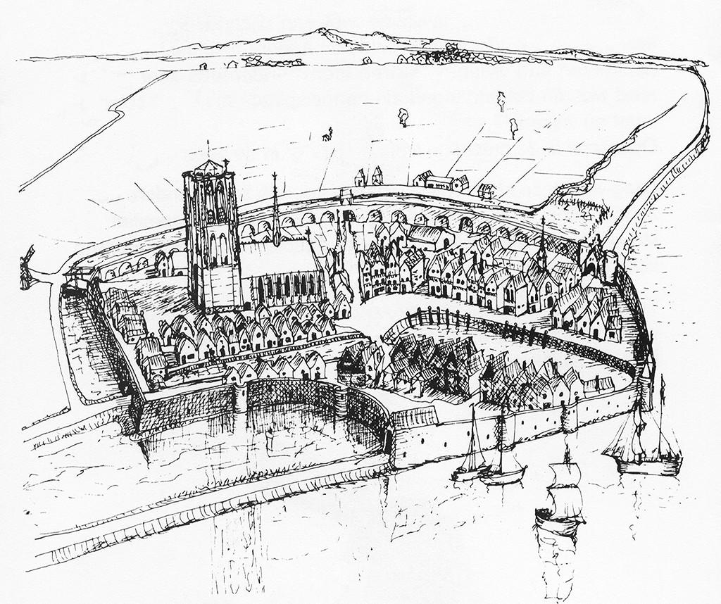Goedereede aan het begin van de zestiende eeuw.