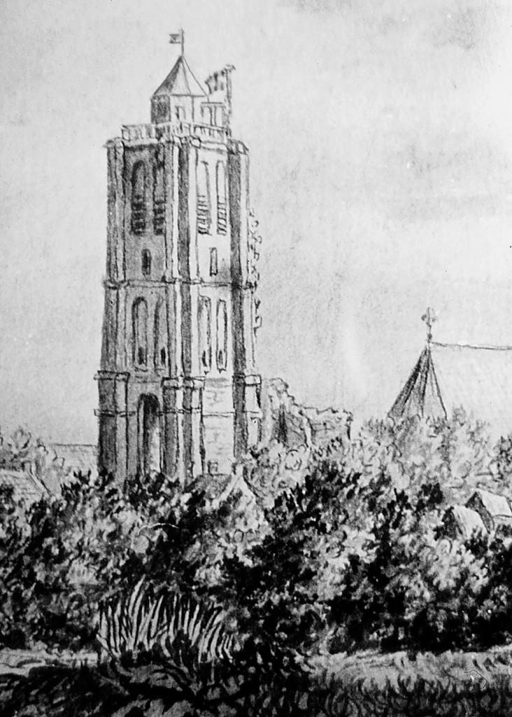 Kerktoren Goedereede 19e eeuw 2 RGB