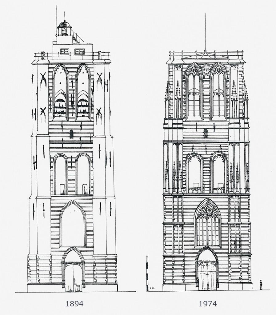 Kerktoren restauratie 1894 en 1974 (3)